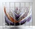 Kateřina Olivová, Galactic, 2003 - Tavená skleněná plastika, žákovská práce z mal. odd., výtvarné vedení Petr Menš, dílenské vedení Jan Pražan, 60 x 50 x 16 cm, Vytvořeno v rámci stipendia sklářského muzea v Taipei.