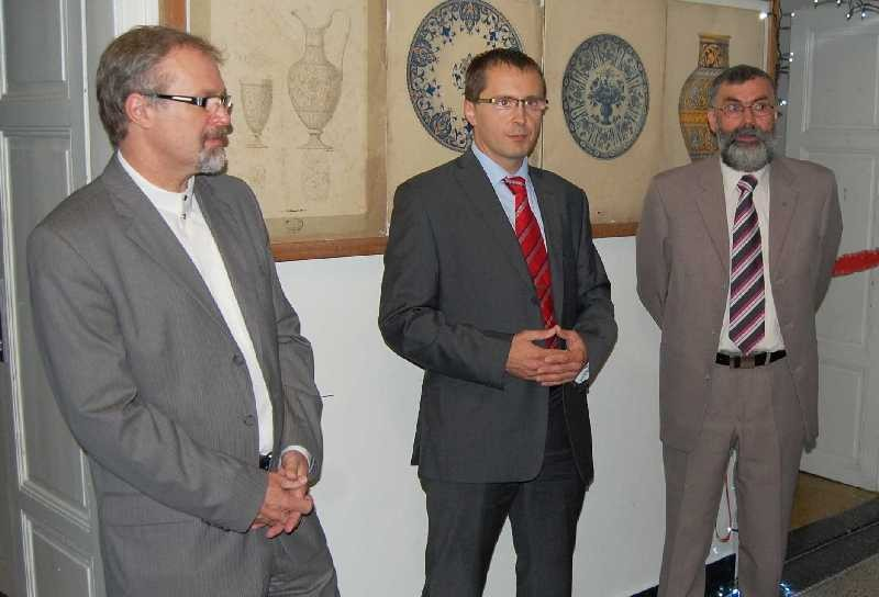 Mayor Jaroslav Andrysík, personal director Pavel Brzák and director František Janák