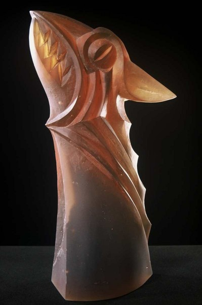 Gargoyle 2005, 50x18x23 cm, lost wax mold melted glass