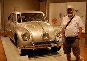 With Tatra car at the muzeum in Minneapolis