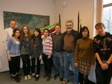 Kazakhian students recieved by a major Frantisek Kucera