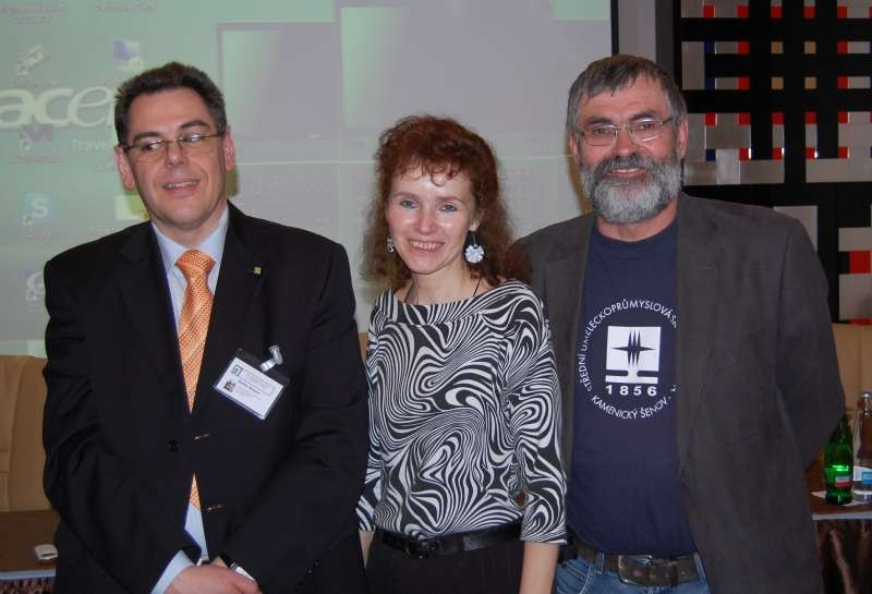 Mr. Detlef Kasten, Mrs. Helena Braunová and Mr. František Janák